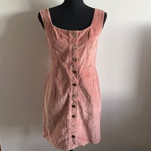 Ally Blush Pink Corduroy Knee Length Dress AU 10